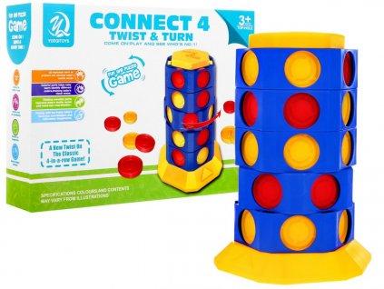 Logická hra CONNECT 4 - TWIST & TURN