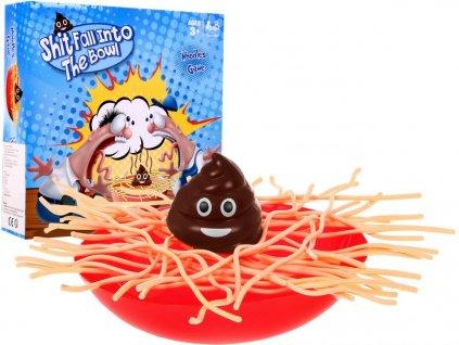 Hra mikádo hromada v špagetách