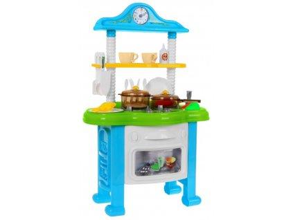 Žiarivá detská kuchyňa s hodinami
