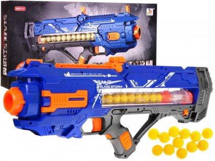 Blaze Storm veľký automatický guľomet modrý + 12 nábojov
