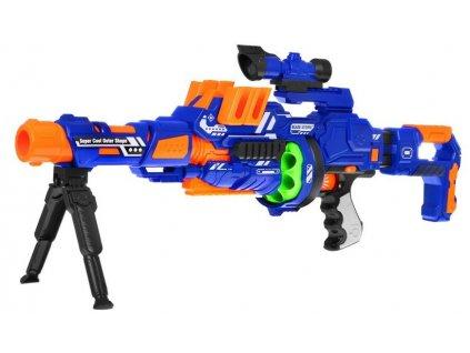 Blaze Storm modulárna ostreľovacia puška modrá + 12 nábojov