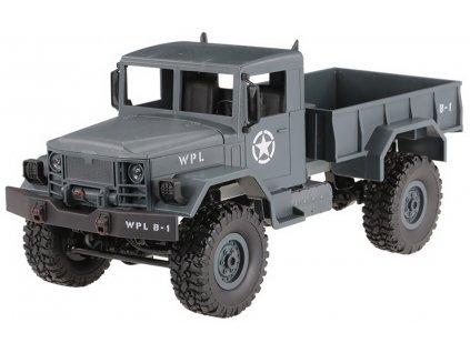 WPL RC auto B-14 vojenský nákladiak 4x4 RTR 1:16 modrý