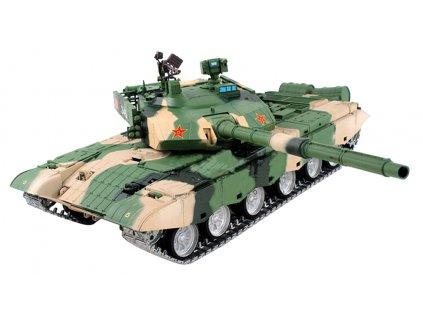 RC tank ZTZ 99 MBT 1:16 - dym, zvuk, airsoft, kovové pásy, kovová prevodovka, QC