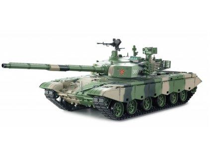 RC tank ZTZ 99 MBT 1:16 - dym, zvuk, airsoft, kovová prevodovka, QC