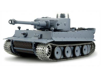 RC TANK 1:16 German Tiger I - zvuk, dym, kovové pásy, kovová prevodovka, QC