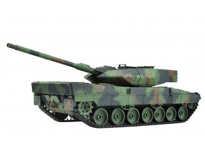 RC tank Leopard 2A6 1:16 - airsoft, dym, zvuk, QC, drevená bedňa