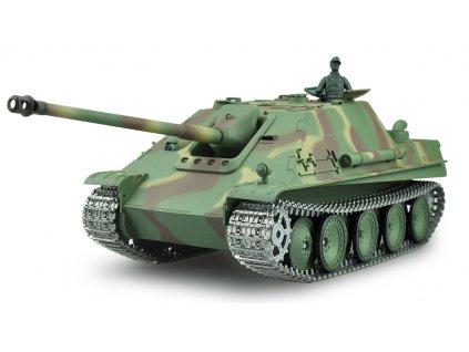RC tank Jagdpanther G 1:16 - airsoft, dym, zvuk, kov. pásy, kov. prevodovka, QC, drevená bedňa