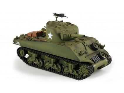 RC tank U.S. M4A3 Sherman 1:16 - airsoft, dym, zvuk, QC, drevená bedňa