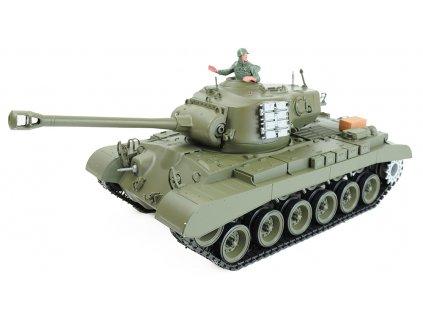 RC tank Pershing M26 1:16 - airsoft, dym, zvuk, QC, drevená bedňa