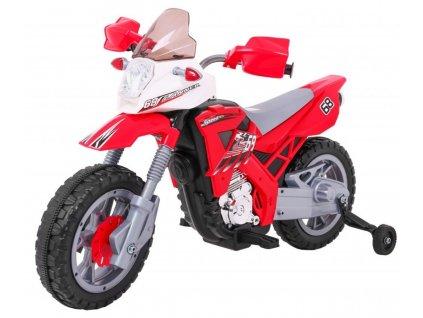 Detská elektrická motorka CROSS červená