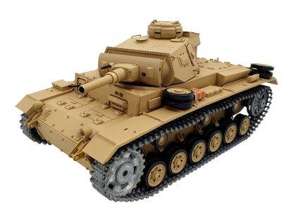 RC tank Tauchpanzer III 1:16 - airsoft, dym, zvuk, kov. pásy, kov. prevodovka, QC, drevená bedňa