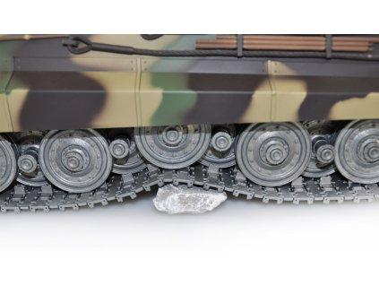 RC tank Königstiger Henschel veža 1:16 - airsoft, dym, zvuk, kov. pásy, kov. prevodovka, QC, drevená bedňa