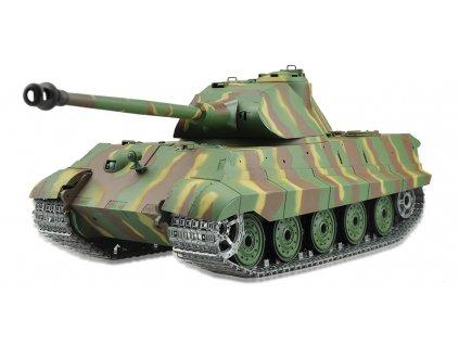 RC tank Königstiger Porsche veža 1:16 - airsoft, dym, zvuk, kov. pásy, kov. prevodovka, QC, drevená bedňa