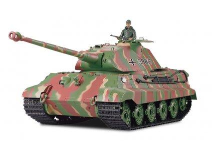 RC tank Königstiger Porsche veža 1:16 - airsoft, dym, zvuk, kov. prevodovka, QC, drevená bedňa