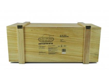 RC tank Königstiger Henschel veža 1:16 - airsoft, dym, zvuk, kov. prevodovka, QC, drevená bedňa