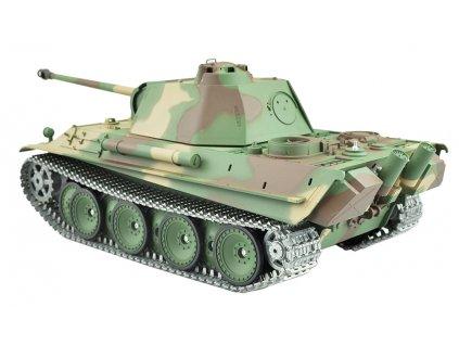 RC tank Panther G 1:16 - airsoft, dym, zvuk, kov. prevodovka, kov. pásy, QC, drevená bedňa
