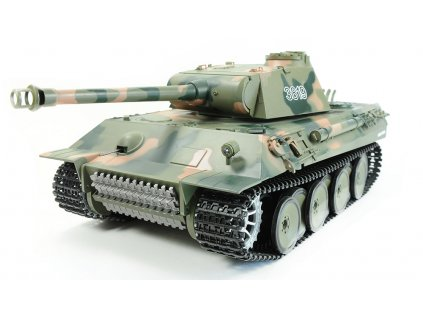 RC tank Panther 1:16 - airsoft, dym, zvuk, QC, drevená bedňa