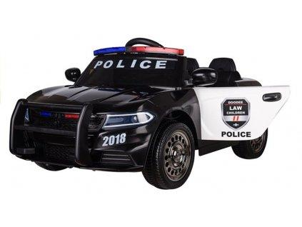 Elektrické autíčko Police 2x20W čierne