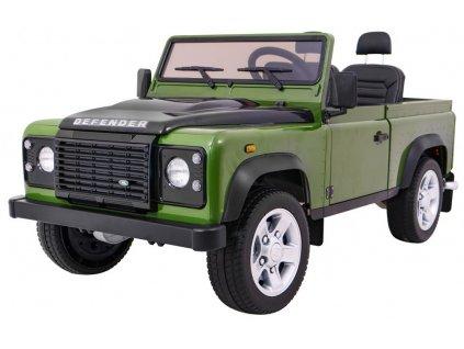 Elektrické autíčko Land rover Defender 4x35W zelený