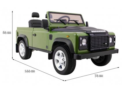 Elektrické autíčko Land rover Defender 4x35W zelená