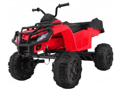 Elektrická štvorkolka s ovládačom 2.4Ghz XL ATV 4x45W červená