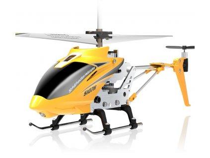 RC mini vrtulník S107H s barometrom 3CH 2.4Ghz RTF 1:1 žltá
