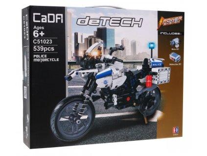 RC stavebnica policajná motorka CADA C51023 RTR 1:1