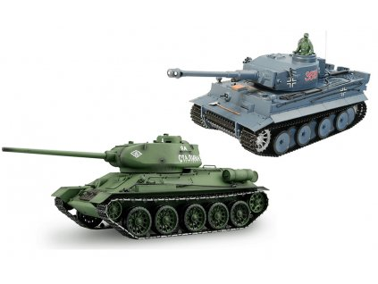 RC tanky sada T-34/85 vs. Tiger 1:16