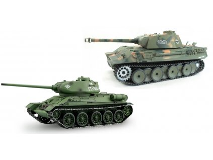 RC tanky sada T-34/85 vs. Panther 1:16
