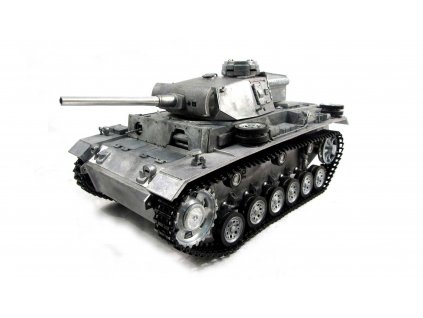 RC tank Panzer III Metal 1:16 RTR TRUE Sound