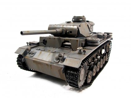 RC tank Panzer III Metal lakovaný 1:16 RTR TRUE Sound