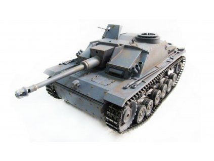 RC tank Sturmgeschütz III Metal 1:16 IR RTR TRUE Sound