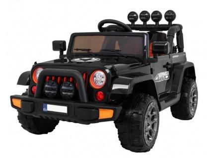 Elektrické autíčko Jeep Wrangler Full Time 4x45W čierne