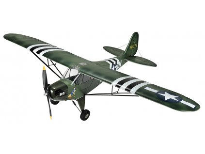 RC lietadlo Piper J3 Military brushless 1400mm PNP 1:1