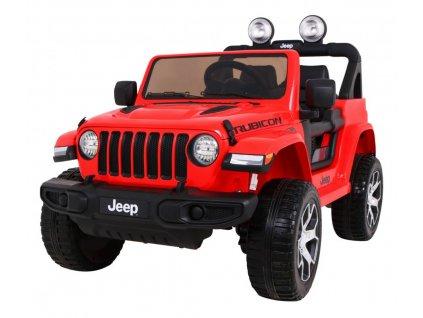 Elektrické autíčko Jeep Wrangler Rubicon 4x45W červená
