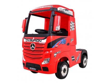 Elektrické autíčko Mercedes Benz Actros 4x45W červená