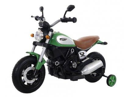 Elektrická detská motorka Harley QK307 zelená