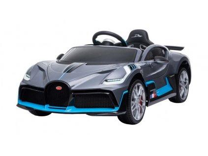Elektrické autíčko Bugatti Divo 2x45W sivé