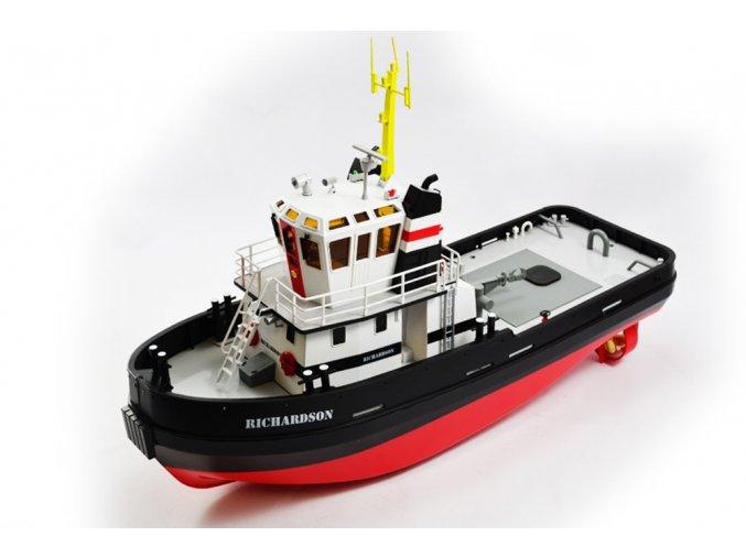 HobbyEngine Richardsson RTR 2,4 GHz 1:36 Premium - pravý vlečný čln so zvukovými a svetelnými efektami