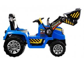 Elektrický traktor pre deti s radlicou, 12V, DO pre rodiča