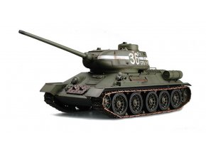 """RC tank 1:16 T-34/85 Russian """"Rudy"""" - 2.4GHz RTR, IR strely"""