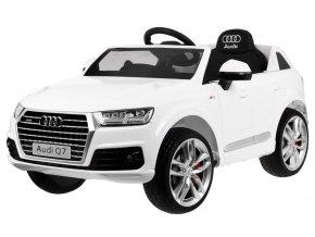 Elektrické autíčko Audi Q7 biele EVA kolesá, 12 V