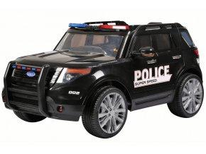 Detské Elektrické autíčko SUV policajné čierne