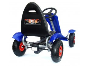 3644 deluxe red kids childrens pedal go kart ride on rubber wheels 01