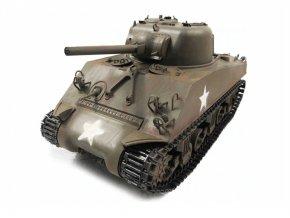 RC tank M4A3 Sherman Metal Army zelená RTR, TRUE Sound, 2.4GHz - proporcionálne riadenie
