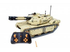 RC stavebnica tanku s funkciou strelby a pohybu - stavebná sada s diaľkovým ovládaním 2.4Ghz