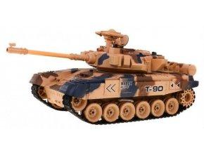 RC Tank T90 airsot s dymom a zvukom 1:18 púštny 2.4 Ghz