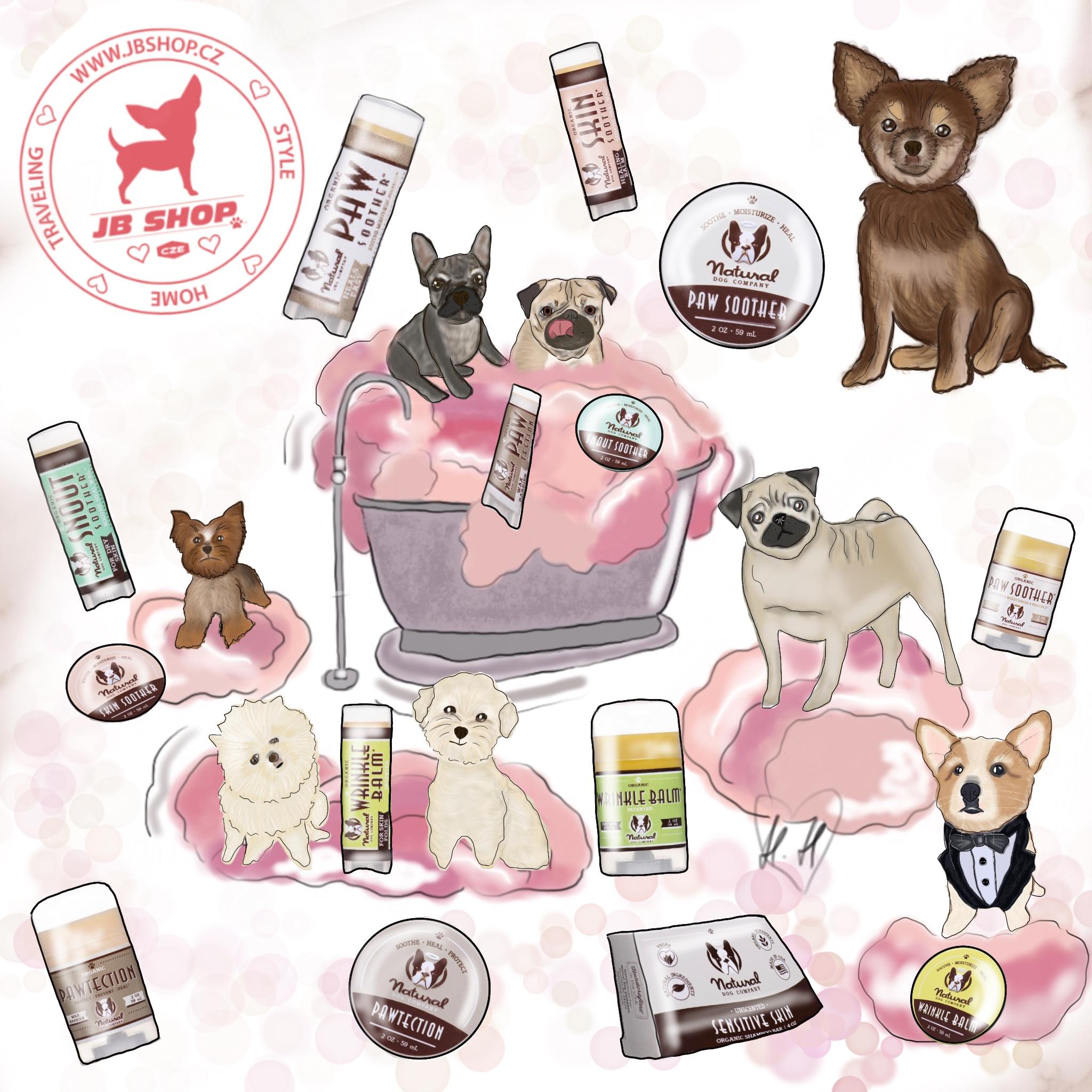 Přírodní kosmetika pro pejsky Natural Dog Company