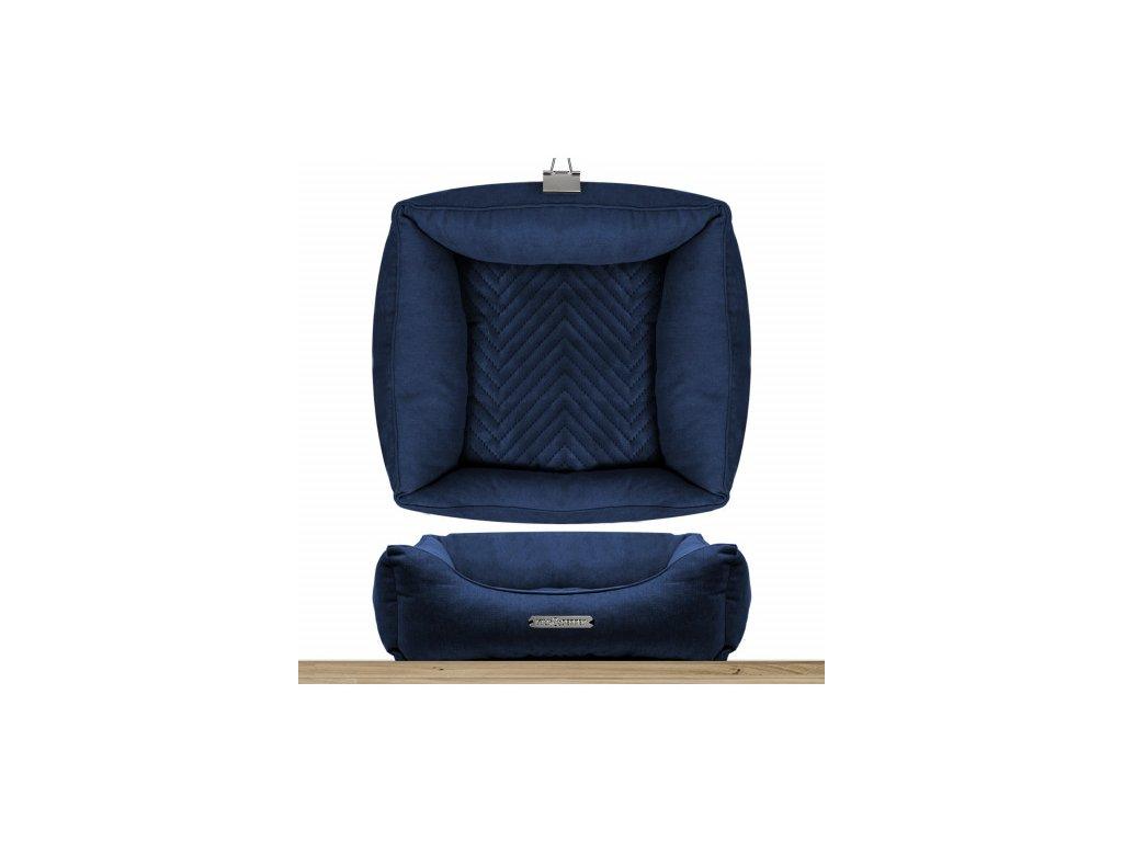 sofa carre dehoussable saint germain bleu nuit
