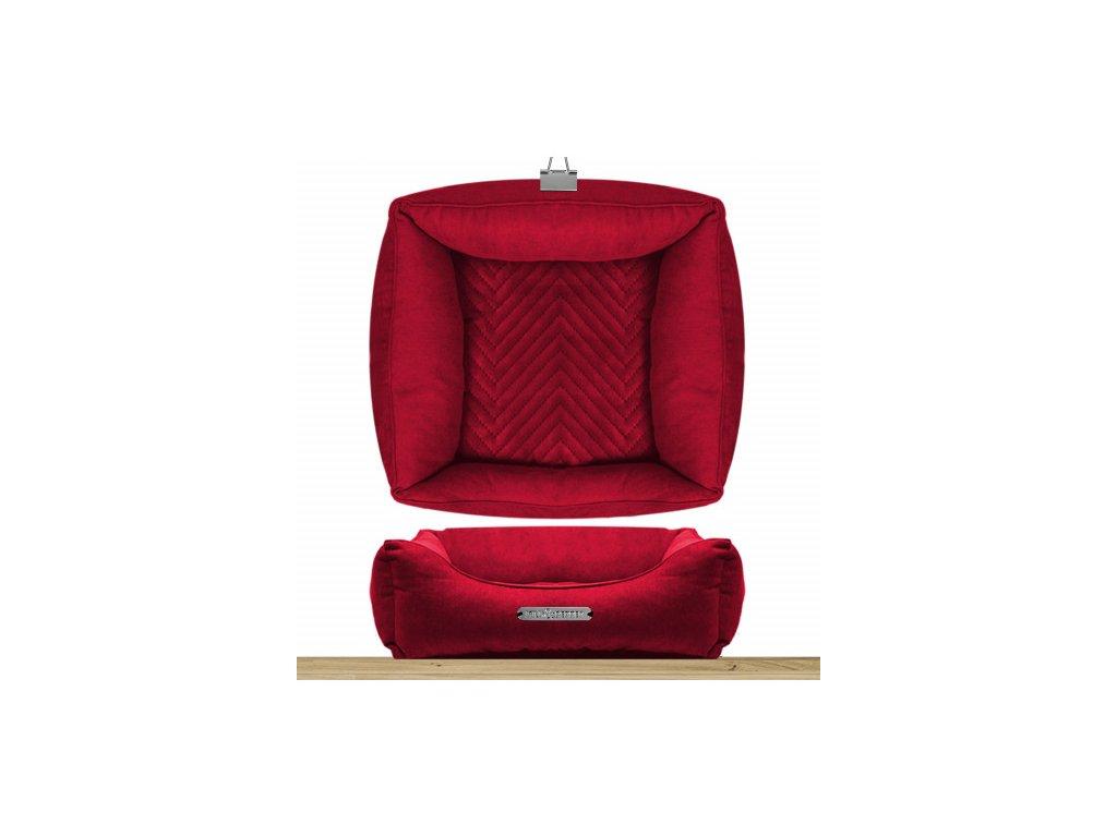 sofa carre dehoussable saint germain rouge